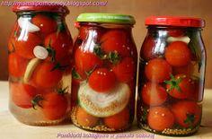 Pomidorki koktajlowe w zalewie octowej, justyś, mama i pomocnicy