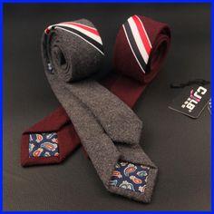 Autumn Winter Wool Tie Skinny Men Ties Slim Multicolor Stripe Thick Male Narrow Neckties Fashion Color Bars Corbatas Para Hombre