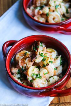 """The Best Garlic Shrimp - this is the best garlic shrimp I have ever made. The shrimp is marinated with garlic and then cooked in garlic oil."""""""
