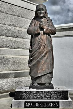 Mother Teresa - St Louis Cemetery No 3 New Orleans Photograph by Christine Till - Mother Teresa - St Louis Cemetery No 3 New Orleans Fine Art Prints and Posters for Sale at http://christine-till.artistwebsites.com/featured/mother-teresa-st-louis-cemetery-no-3-new-orleans-christine-till.html