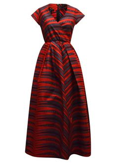Dress up and represent your cultures with these African formal dresses! This stunning African dress features a beautiful red grey design. Shop now!