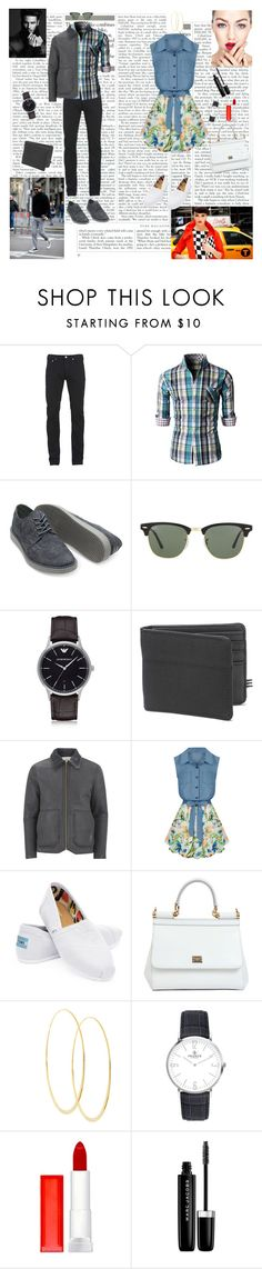 Date Time by dinapetridi on Polyvore featuring Allegra K, TOMS, Dolce&Gabbana, Lana, Paul Smith, Paul Smith Red Ear, 1 Voice, Emporio Armani, Ray-Ban and Marc Jacobs