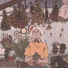 ima pretty pnk flowers by pnk ghost Pretty Art, Cute Art, Aesthetic Art, Aesthetic Anime, Arte 8 Bits, Character Art, Character Design, Witch Art, Art Plastique
