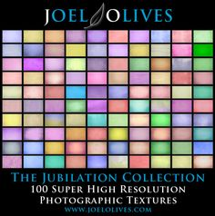 """""""The Jubilation Collection"""" 100 Super High Resolution Photographic Textures $30."""