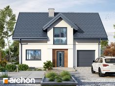 Dom w lucernie 8 Types Of Houses Styles, House Styles, Dormer Bungalow, German Houses, Architectural House Plans, Micro House, Traditional House Plans, Home Projects, New Homes
