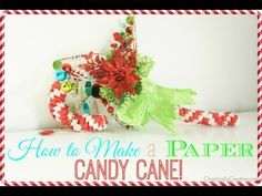 How to Make a Paper Candy Cane