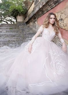 Wedding dress idea; Featured Dress: Jim Hjelm by Hayley Paige