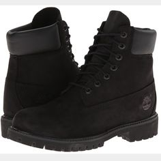 LOOKING FOR all black timberlands Looking for the 6in tall ones Timberland Shoes Lace Up Boots