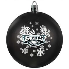 """NFL Philadelphia Eagles Shatter-Proof Plastic Ornament by Topperscot. $9.38. Looks like a traditional glass ornament but withstands any falls or drops without breaking!. For Decoration Only.. Made in China and Finished in the USA. Officially Licensed Product. A great ornament for anyone with small children or pets; Topperscot's Shatter-Proof Ornament measures 3 1/8"""" Wide. Shatter-Proof Ornaments are made of a sturdy plastic which ensures that they will not break whe..."""