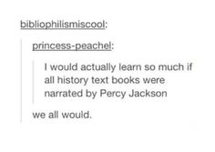 If only but then again maybe it could ruin the way we see Percy