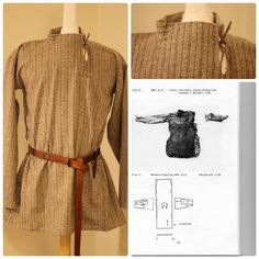 Woolen Viking tunic based on a finding from Guddal.