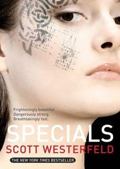 Scott Westerfeld   Specials   Specials is the 3rd book in the Uglies series.  http://scottwesterfeld.com/books/uglies/#  http://www.barnesandnoble.com/w/specials-scott-westerfeld/1100203074?ean=9781416947950#