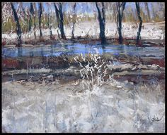 River Runs Through - Original Fine Art By Ginny Stocker