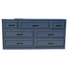 Navy Lacquered Faux-Bamboo Dresser Idea for master bedroom- paint my dresser for a new look