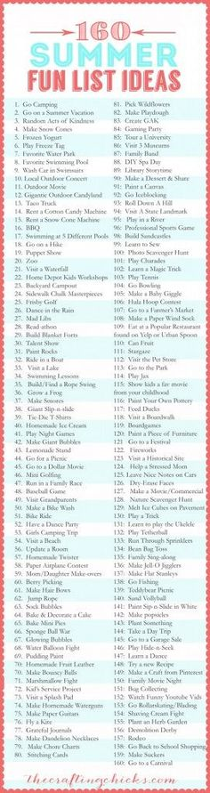 160-Summer-Fun-List-