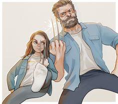 Logan and Laura by Hallpen on DeviantArt