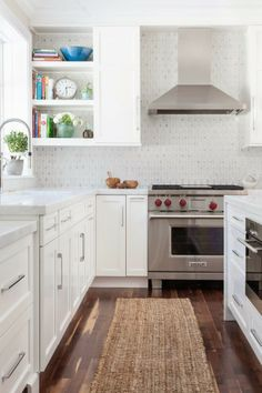 white kitchen + open
