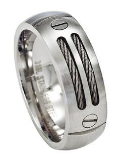 Masculine and rugged, this stainless steel cable ring is a modern, stylish choice. $26.95