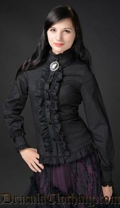 Black Victorian Blouse http://draculaclothing.com/index.php/black-victorian-blouse.html