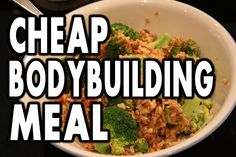 ★ CHEAP Bodybuilding Meal Example:  10 Minute Tuna & Rice Recipe