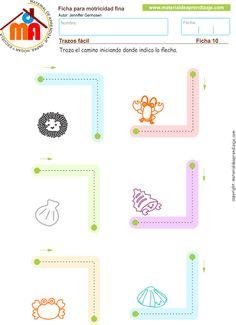 Grafomotricidad: Trazos fácil 10 - Material de Aprendizaje