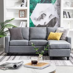 Couches For Small Spaces, Small Couch, Small L Shaped Couch, Small Space Sectional, Ikea Small Spaces, Small Rooms, Sectional Sleeper Sofa, Chaise Sofa, Couch Sofa