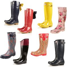 rainboots-I like the ones in the top row....size 10/11(;