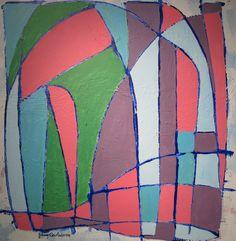 Maleri Sommer Norge 80x80 cm