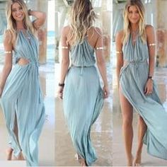 Irresistible Bohemian Beach Maxi Dress - Daisy Dress For Less - 1