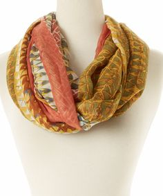 Love this Peach Triangle Dance Infinity Scarf on #zulily! #zulilyfinds