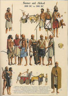 Guerriers de Sumer et d'Akkad.