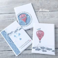 Stamping Sunday with Above the Clouds - The Crafty oINK Pen Small Balloons, Above The Clouds, Paper Pumpkin, Masculine Cards, Brighten Your Day, Stamping Up, Cool Cards, Stampin Up Cards, Making Ideas