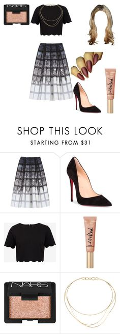 """Untitled #1358"" by nerdynerdy on Polyvore featuring TIBI, Christian Louboutin, Ted Baker, NARS Cosmetics and Tiffany & Co."