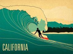 Surfer - Matt Richards Illustration