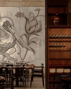 Wuxi, Restaurant Lounge, Modern Artists, Hotel Spa, Decoration, Living Room Designs, Wall Murals, Artwork, Painting
