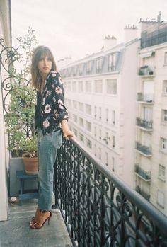 JEANNE DAMAS // floral bomber