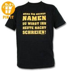 Rahmenlos® Merk dir meinem Namen T-Shirt, schwarz - AUSVERKAUF, Größe:L - T-Shirts mit Spruch | Lustige und coole T-Shirts | Funny T-Shirts (*Partner-Link)