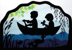 Fensterschmuck - Fensterbild Bootsfahrt Transparentbild - ein Designerstück von Juliane-Buness bei DaWanda