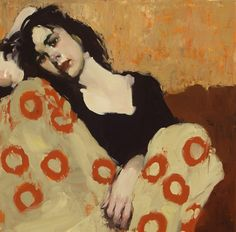 "*Milt Kobayashi, Japanese-American artist, b. New York ""Curled Up"" Painting People, Figure Painting, Painting & Drawing, L'art Du Portrait, Portraits, Pencil Portrait, Painting Inspiration, Art Inspo, Milt Kobayashi"