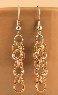 Shaggy Loops Earrings Copper with Fine Silver Inner Rings by Kani73, via Flickr