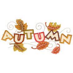 """Embroidery Online has posted this free embroidery design called """"Autumn""""."""