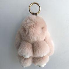 Color 15Cm Real Rex Rabbit Fur Rabbit Bunny Keyring Bag Charm Toy Doll