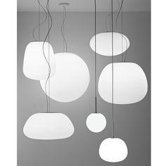 Opalglas Leuchten Serie im Licht.