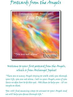 Angel Jophiel postcard from Connecting with Angels Telesummit with Lisa Dorey and Kimberly Marooney