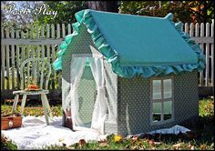 playhouse made out of fabric and pvc pipe