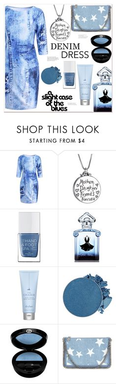 """""""Slight case of the Blues"""" by mycherryblossom ❤ liked on Polyvore featuring The Hand & Foot Spa, Guerlain, Drybar, Giorgio Armani and STELLA McCARTNEY"""
