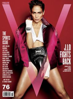 Jennifer Lopez dons boxing garb and reveals a lot of skin for V Magazine's Spring sports issue