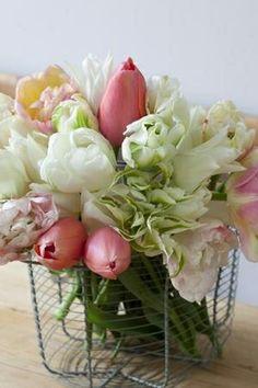 Create a beautiful floral arrangement.