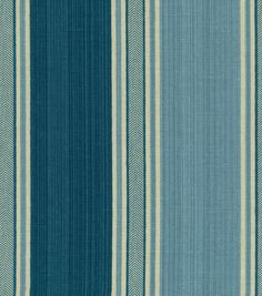 Idea for curtains- Waverly Home Decor Fabric Spotswood Stripe Porcelain