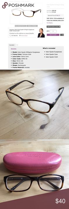 eb0a70c89fa Kate Spade Regine Gold Eyeglasses Eyeglasses with a Kate spade frame. It  has been used
